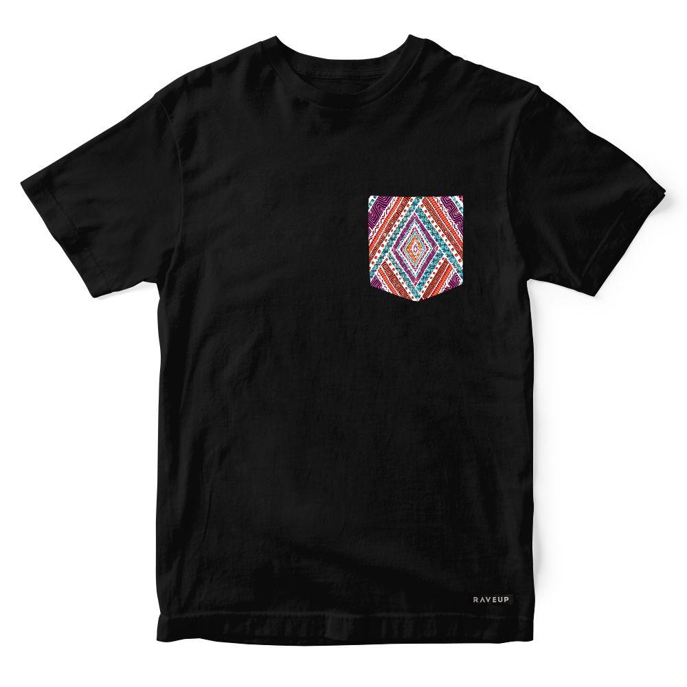Camiseta Bolso Psicodélico Native White