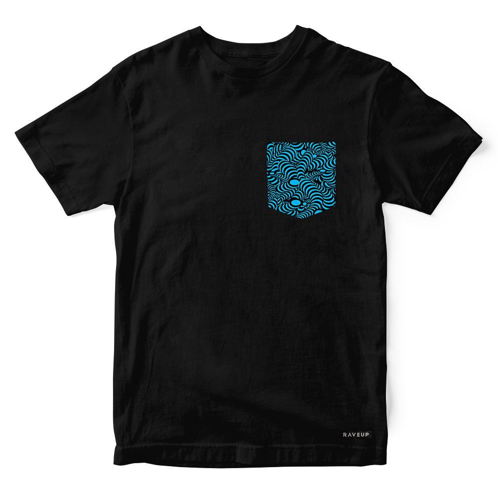 Camiseta Bolso Psicodélico Snakes Blue