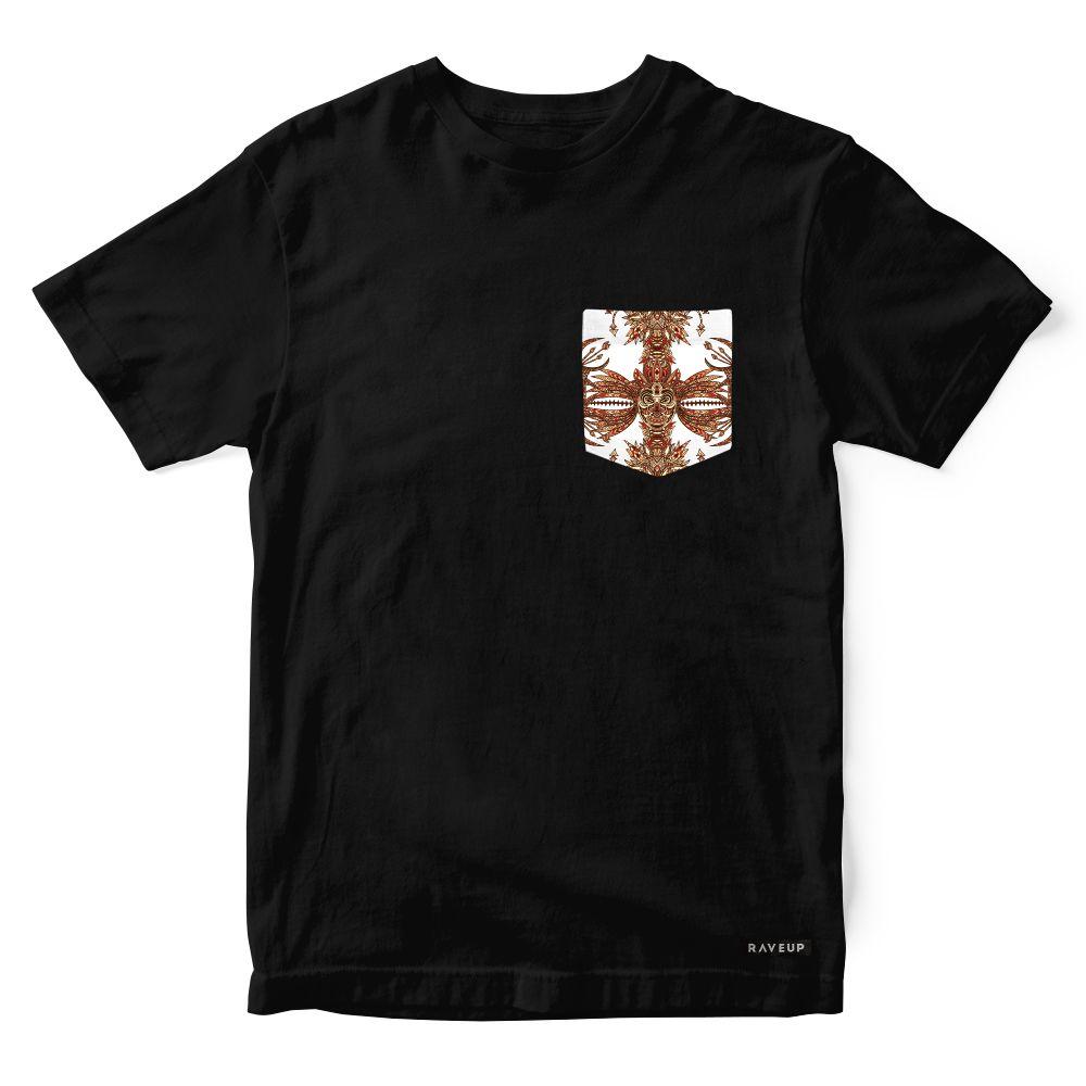 Camiseta Bolso Psicodélico Tribal Masks
