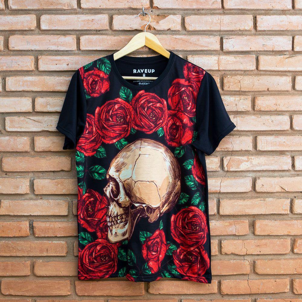 Camiseta Floral Skull
