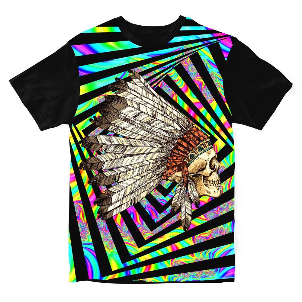 Camiseta Indian Cocar Psicodélica