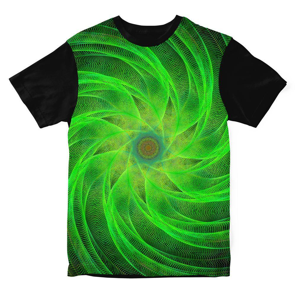 Camiseta Psicodélica Espiral Green