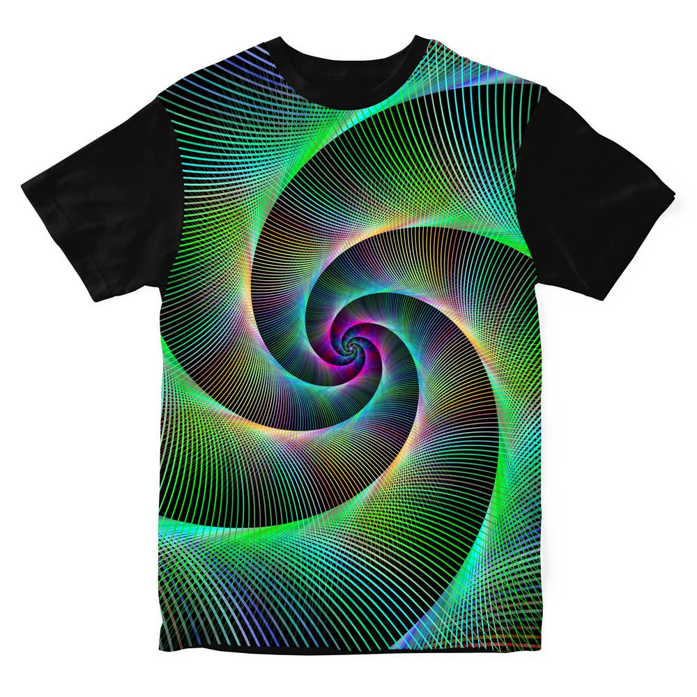 Camiseta Psicodélica Espiral Night
