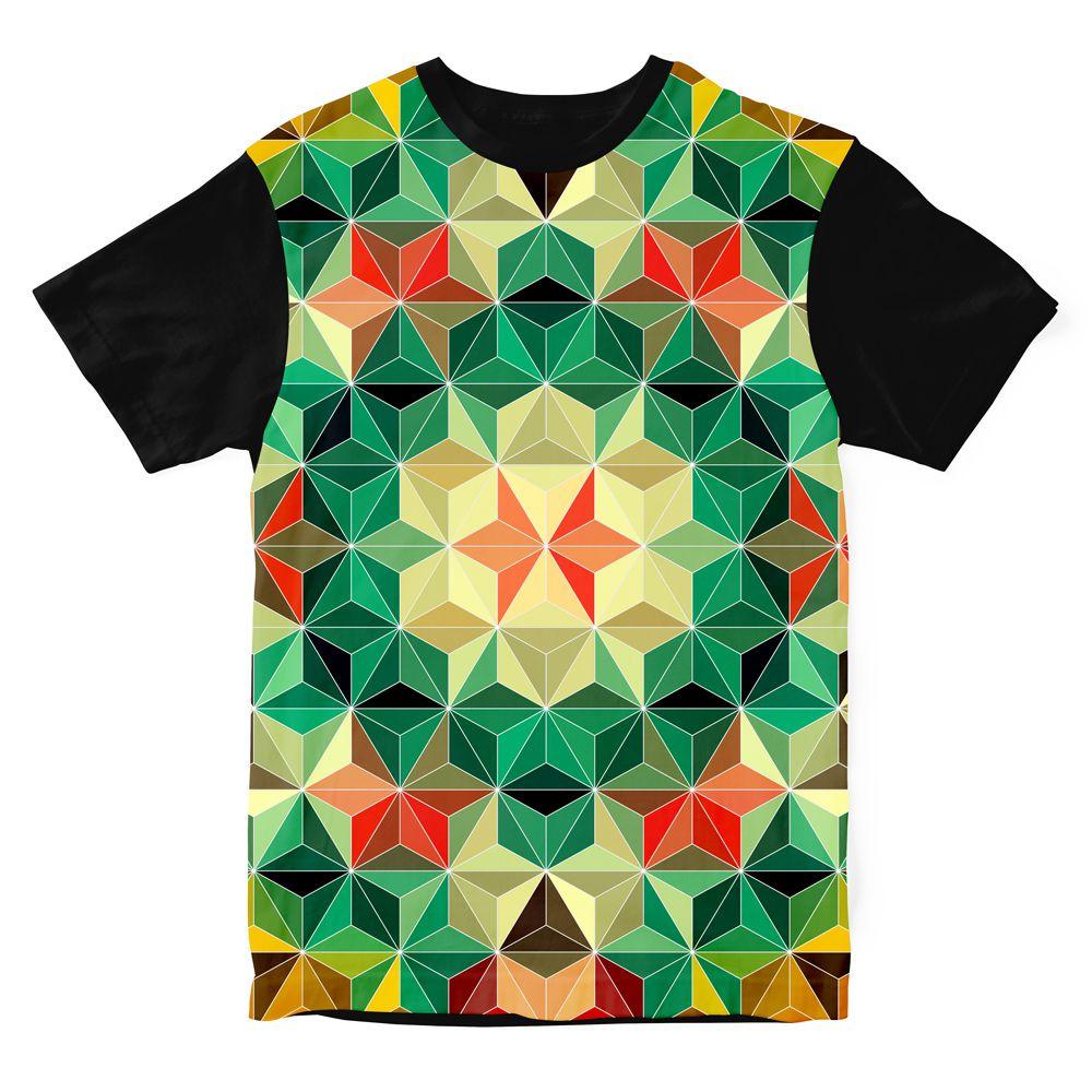 Camiseta Psicodélica Geometric