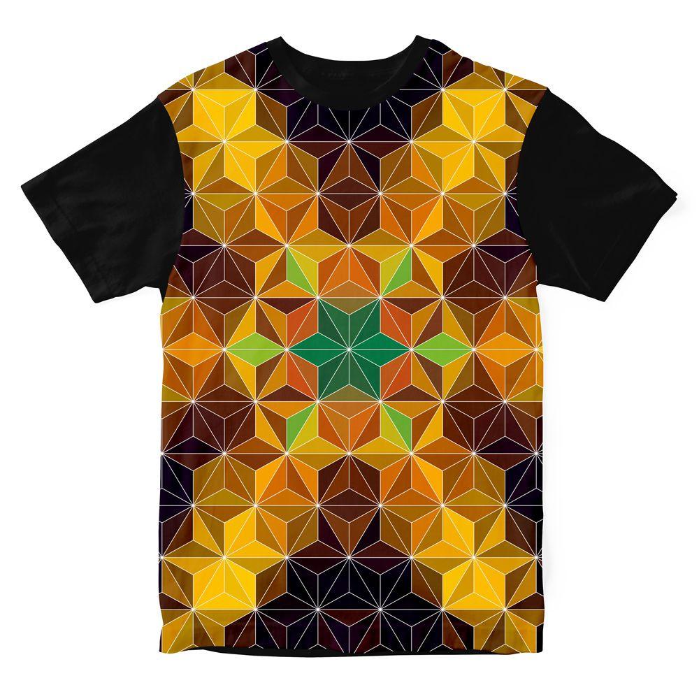Camiseta Psicodélica Geometric Mandala