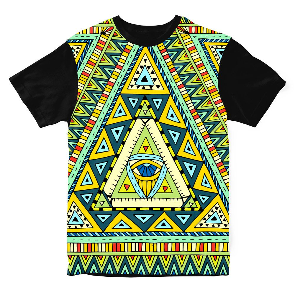 Camiseta Psicodélica Native Culture Eye