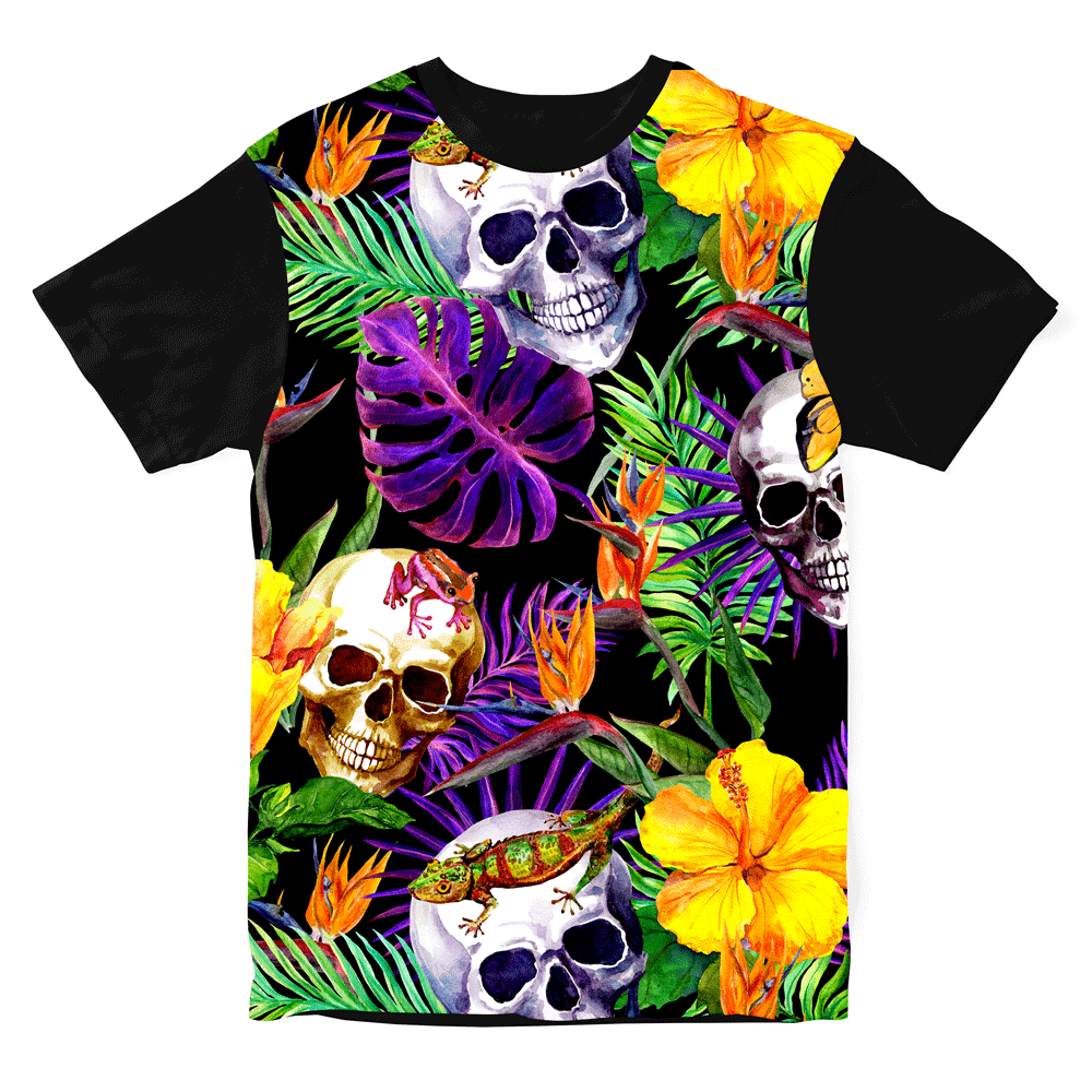 Camiseta Tropical Skull
