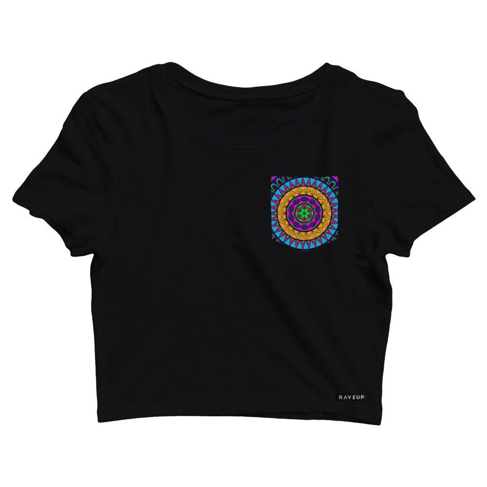 Cropped com Bolso Mandala Colors