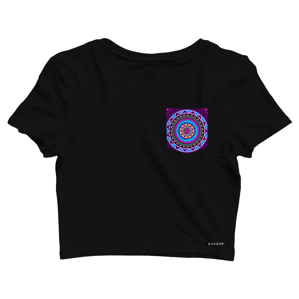 Cropped com Bolso Mandala Purple