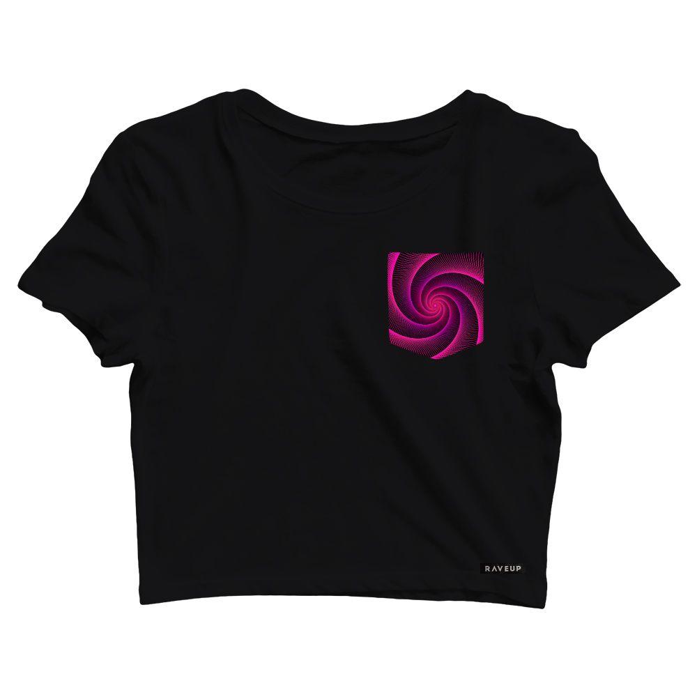 Cropped com Bolso Pink Spiral