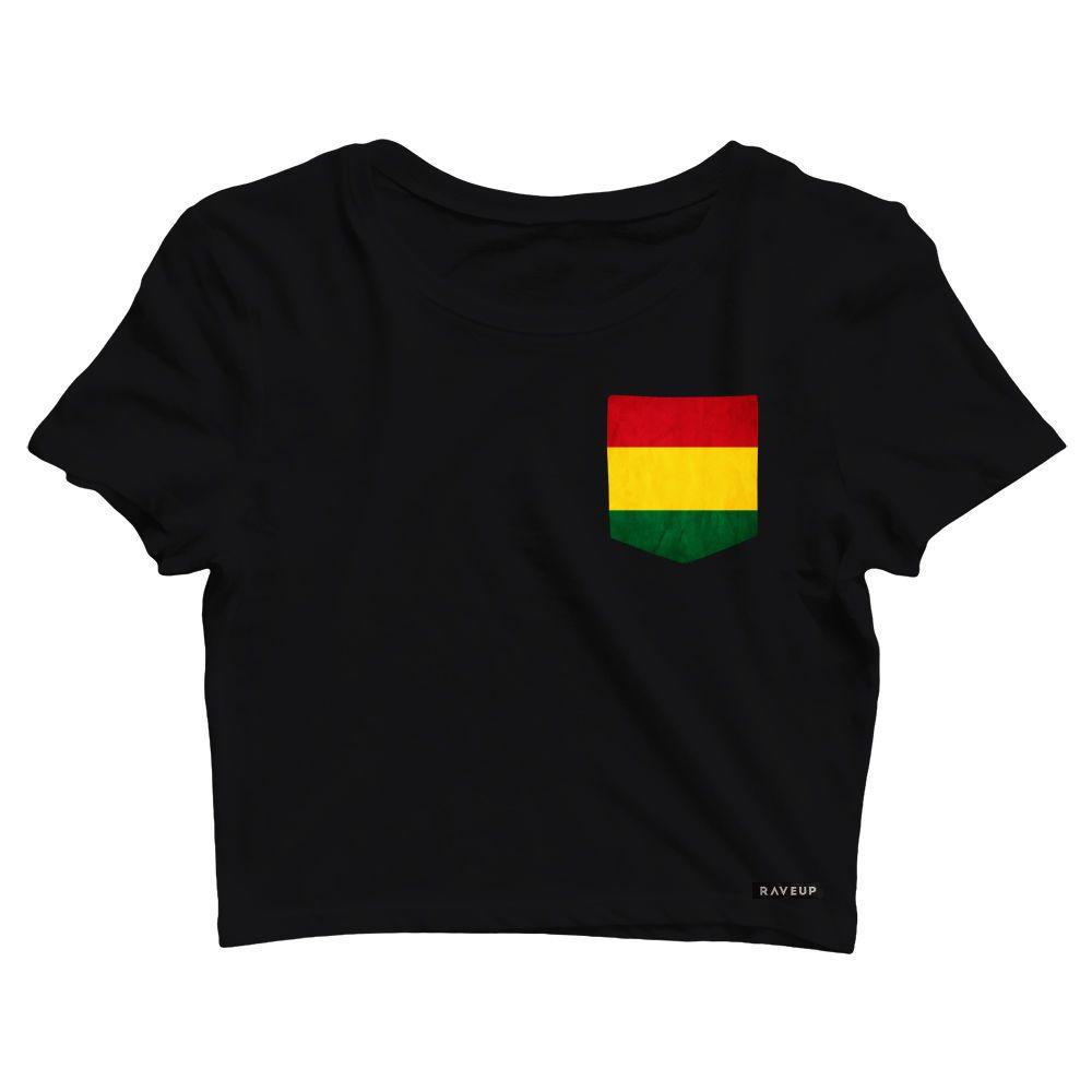 Cropped com Bolso Reggae Flag