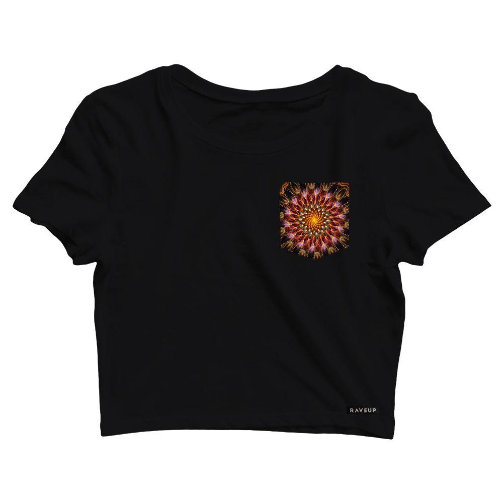 Cropped com Bolso Spiral Flower