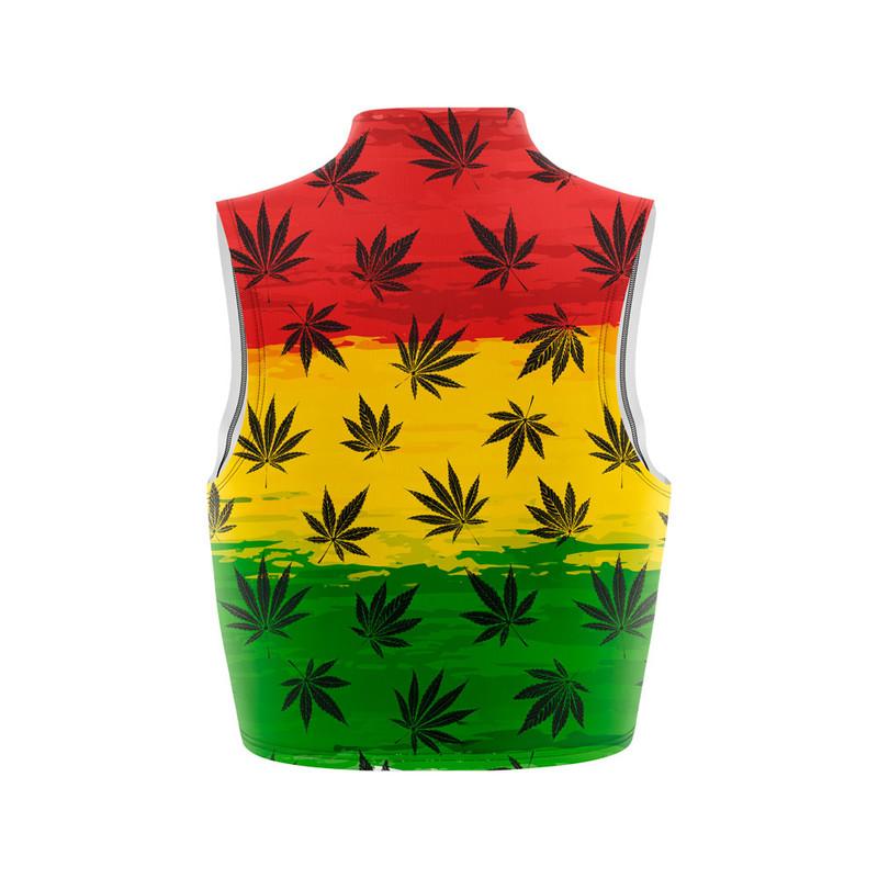 Cropped Regata Gola Alta Cannabis Arte Reggae