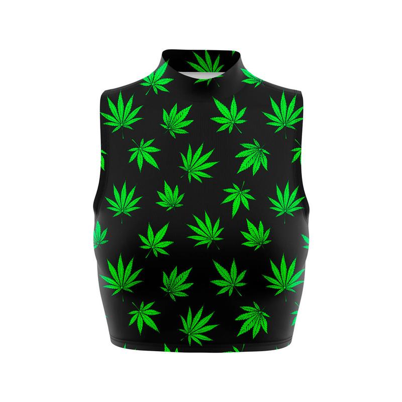 Cropped Regata Gola Alta Cannabis Maconha