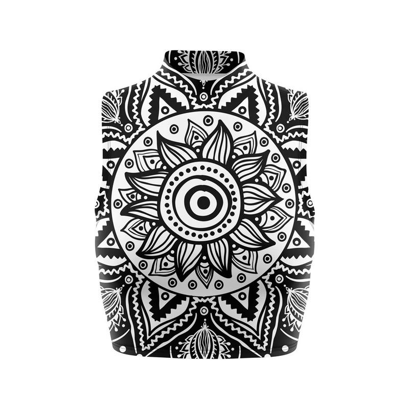 Cropped Regata Gola Alta Flor Nativa Mandala