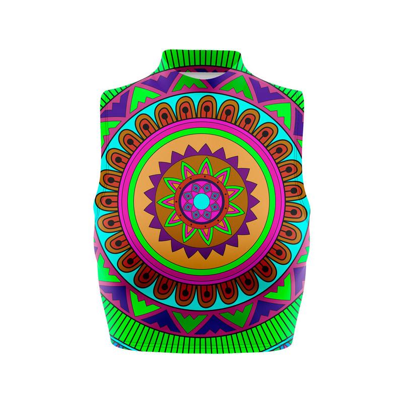 Cropped Regata Gola Alta Mandala Colorida