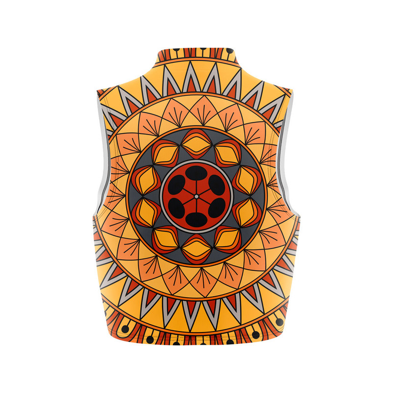 Cropped Regata Gola Alta Mandala Nativa Amarela