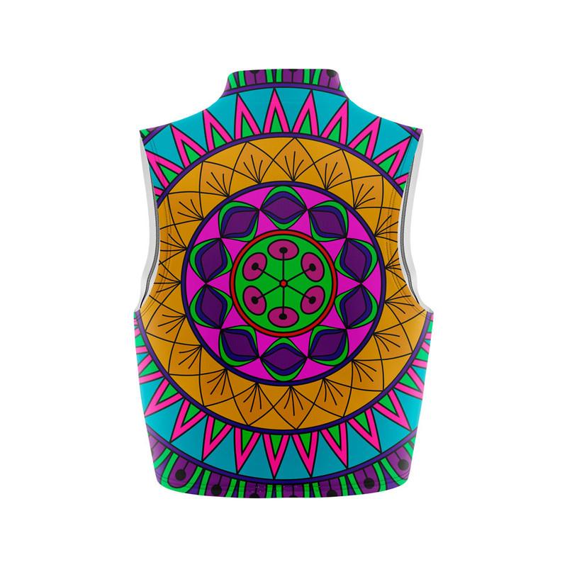Cropped Regata Gola Alta Mandala Nativa Colorida