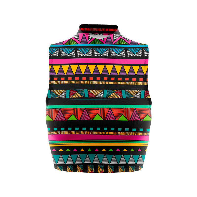 Cropped Regata Gola Alta Nativa Tribal