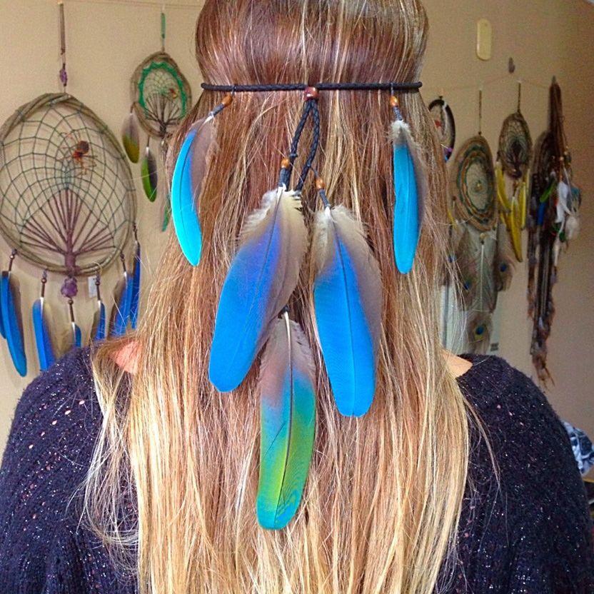 Headband Penas Naturais