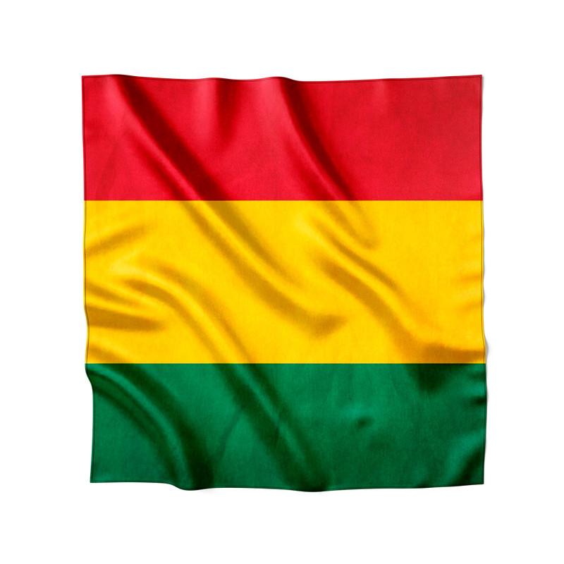Lenço de Cetim Feminino Bandeira Reggae