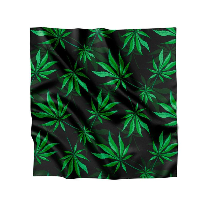 Lenço de Cetim Feminino Cannabis Folha Maconha