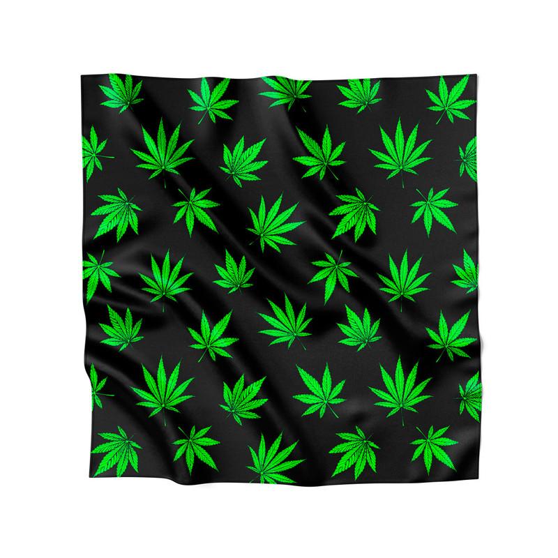 Lenço de Cetim Feminino Cannabis Maconha