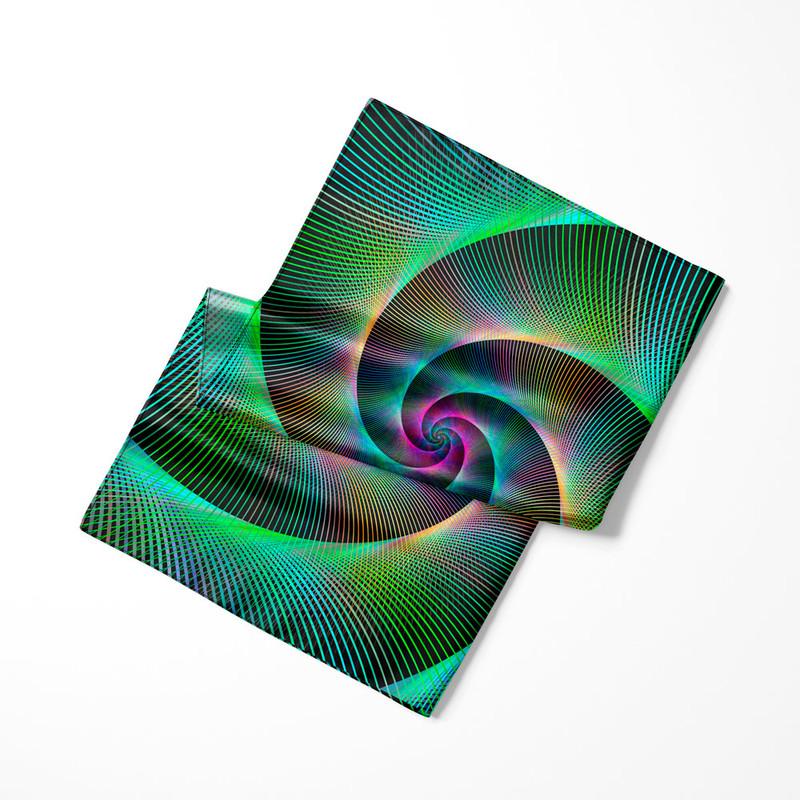 Lenço de Cetim Feminino Espiral Laser