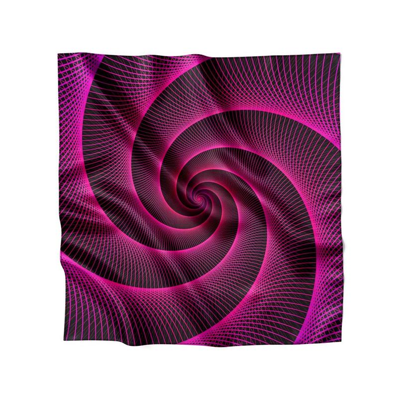 Lenço de Cetim Feminino Espiral Laser Rosa