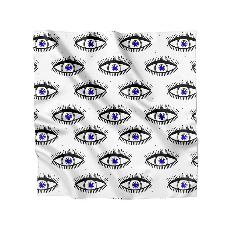 Lenço de Cetim Feminino Olho Grego
