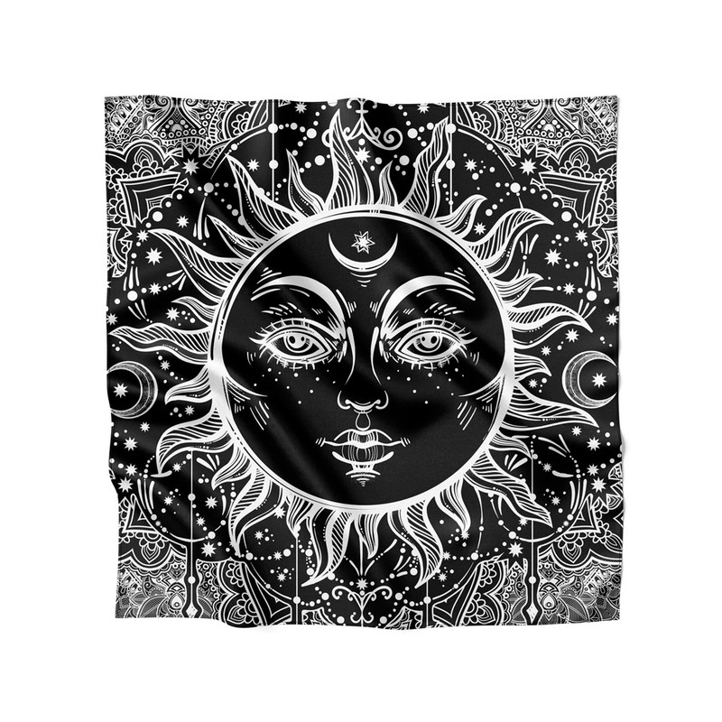 Lenço de Cetim Feminino Sol Negro Ethnic