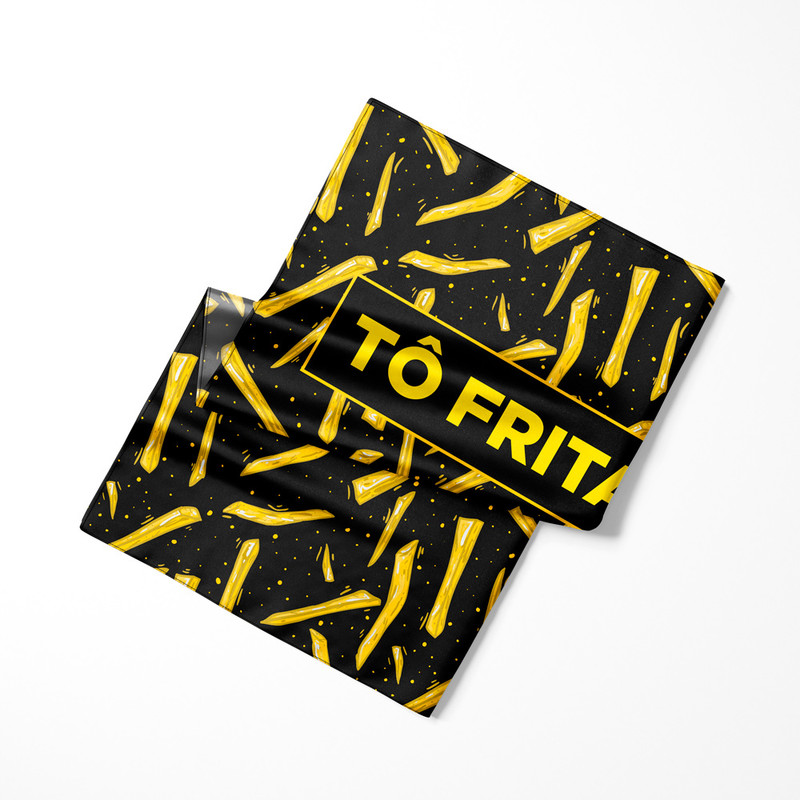 Lenço de Cetim Feminino Tô Frita Batatas