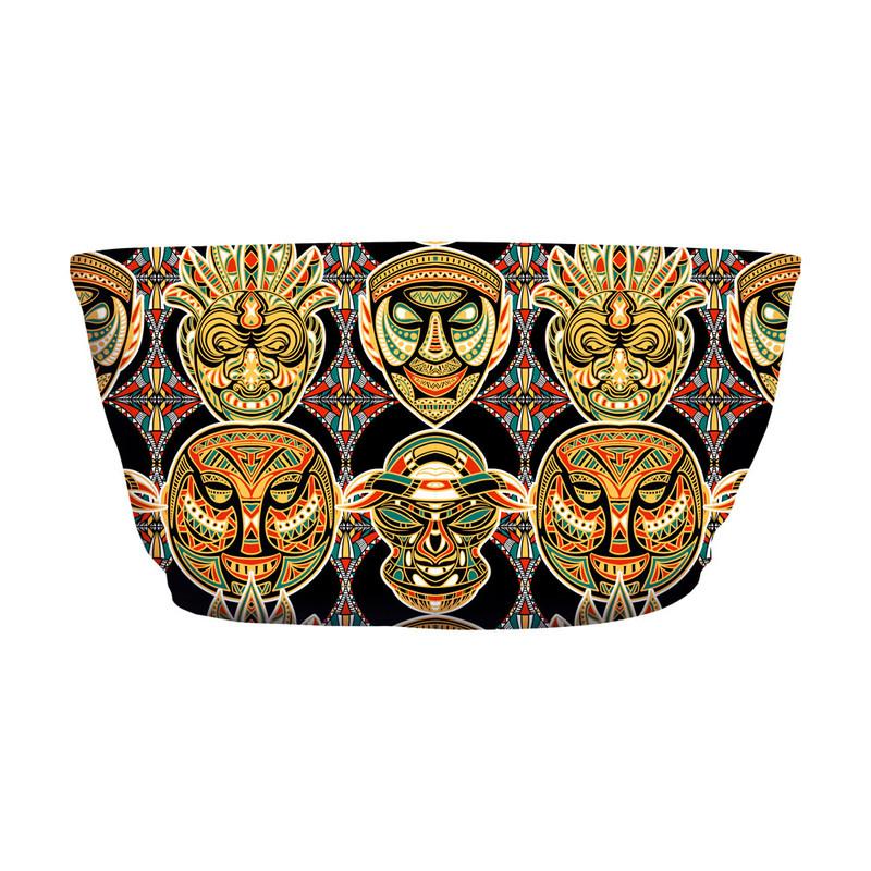 Top Faixa Máscara Africana Tribal