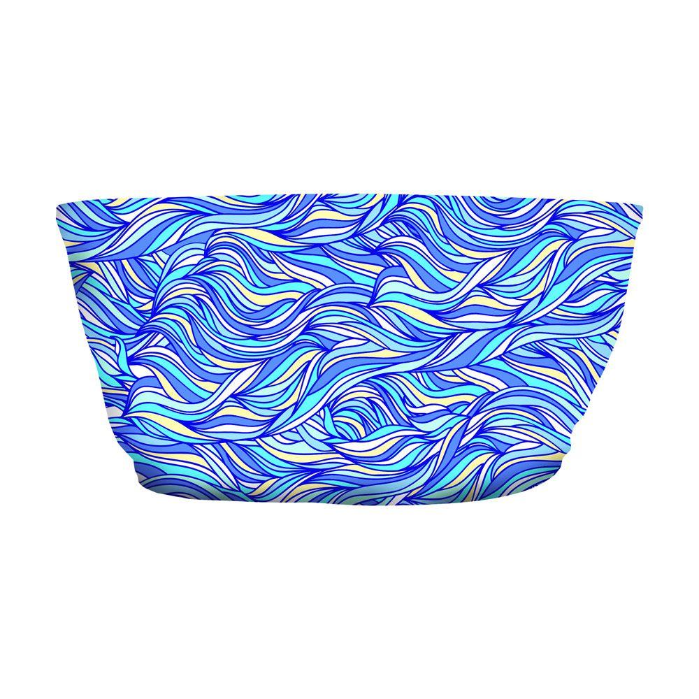 Top Faixa Psicodélico Abstract Lines Blue