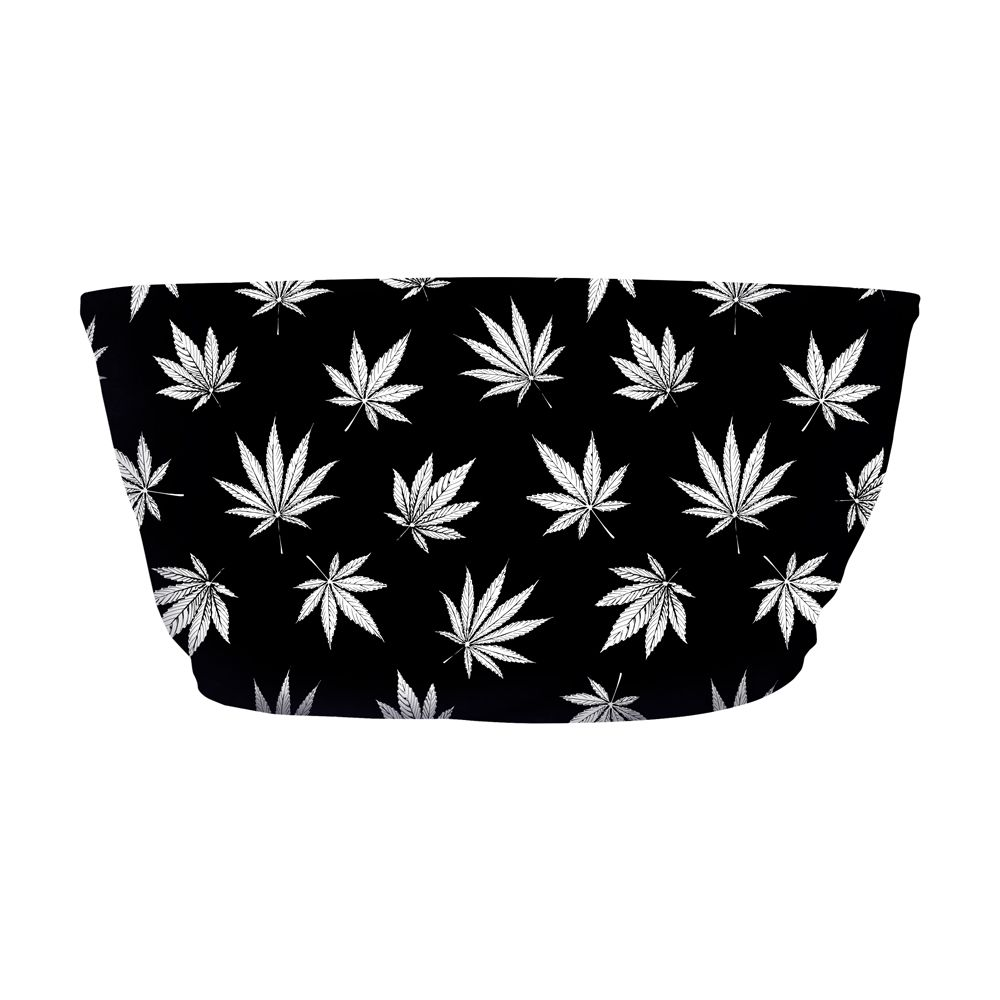 Top Faixa Psicodélico Cannabis Black