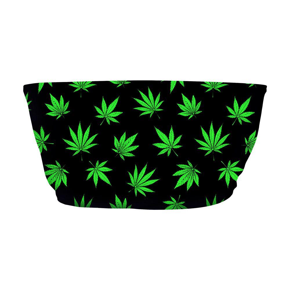 Top Faixa Psicodélico Cannabis Green