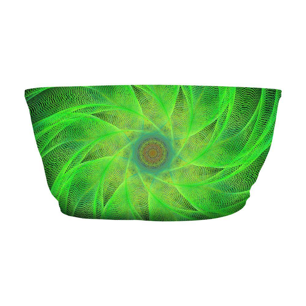 Top Faixa Psicodélico Green Spiral
