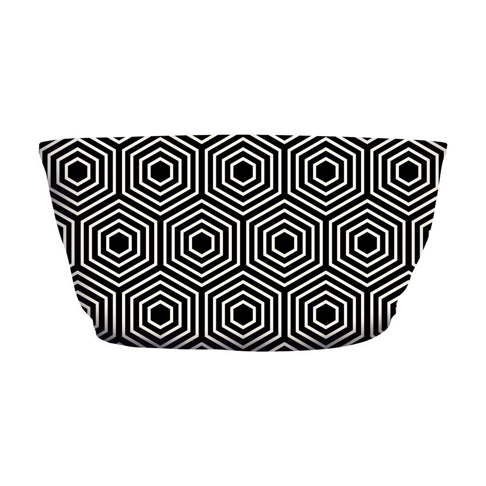 Top Faixa Psicodélico Hexagon Dark