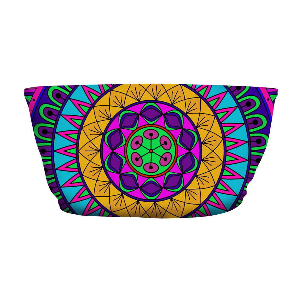 Top Faixa Psicodélico Mandala Colors