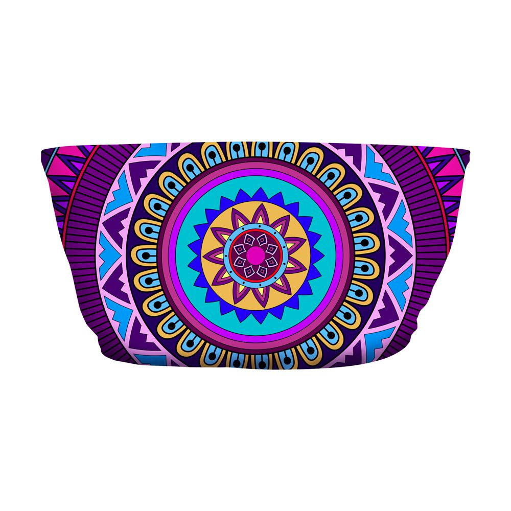 Top Faixa Psicodélico Mandala Purple