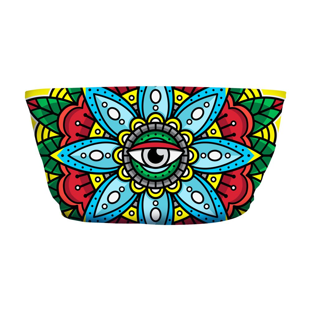 Top Faixa Psicodélico Mandala Eye