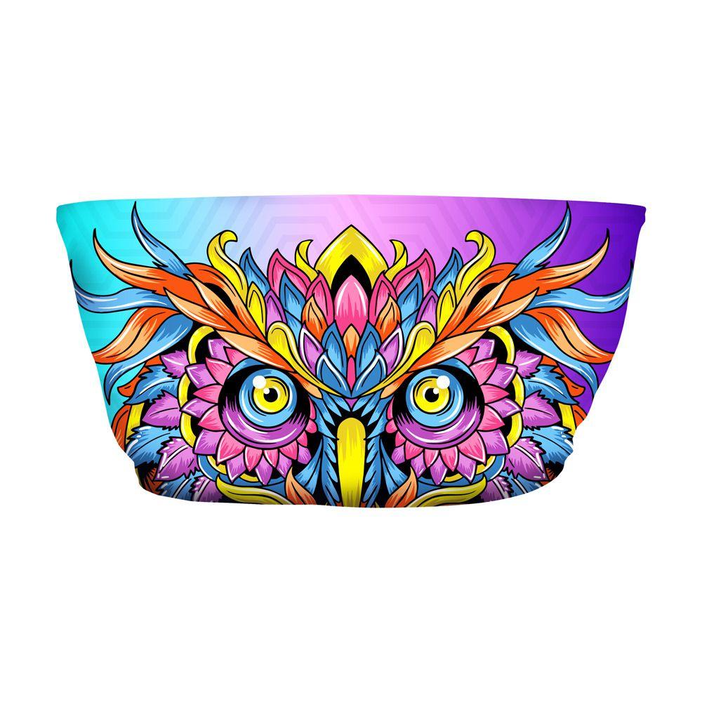 Top Faixa Psicodélico Owl Colors