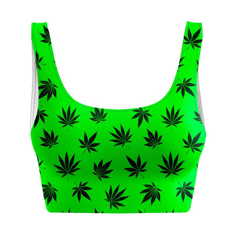Top Regata Cannabis Maconha Verde