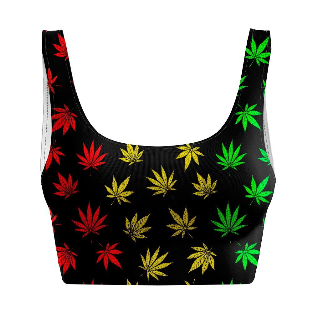 Top Regata Psicodélico Cannabis Reggae