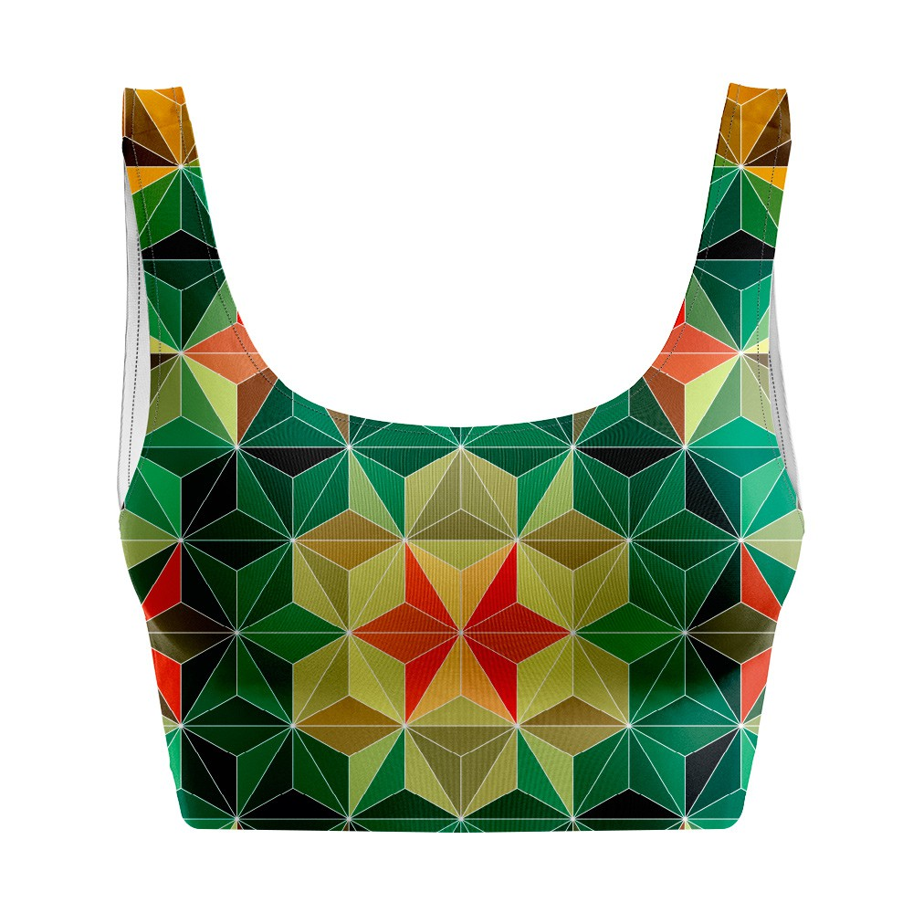 Top Regata Psicodélico Geometric Mandala
