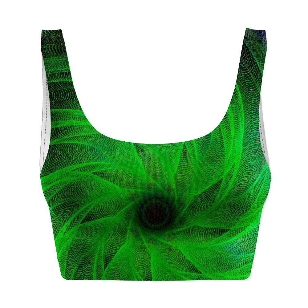 Top Regata Psicodélico Green Spiral