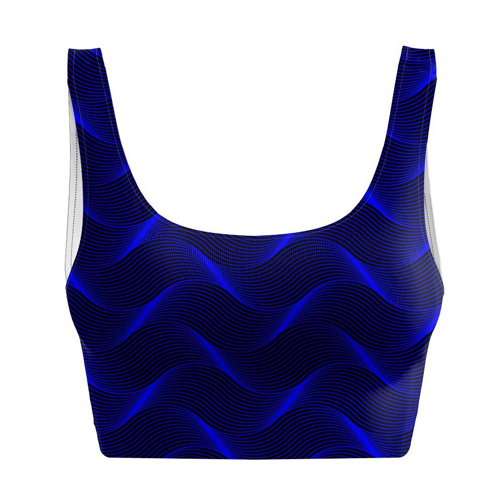 Top Regata Psicodélico Insane Curves Blue