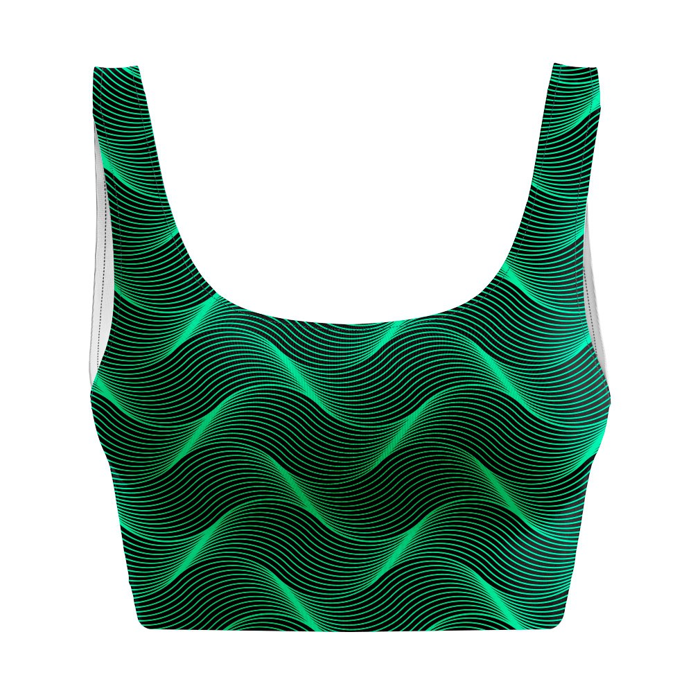 Top Regata Psicodélico Insane Curves Green