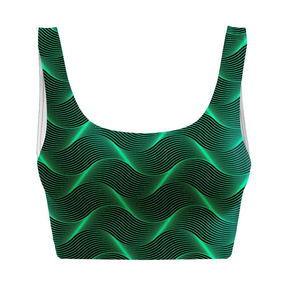 Top Regata Psicodélico Insane Curves Green