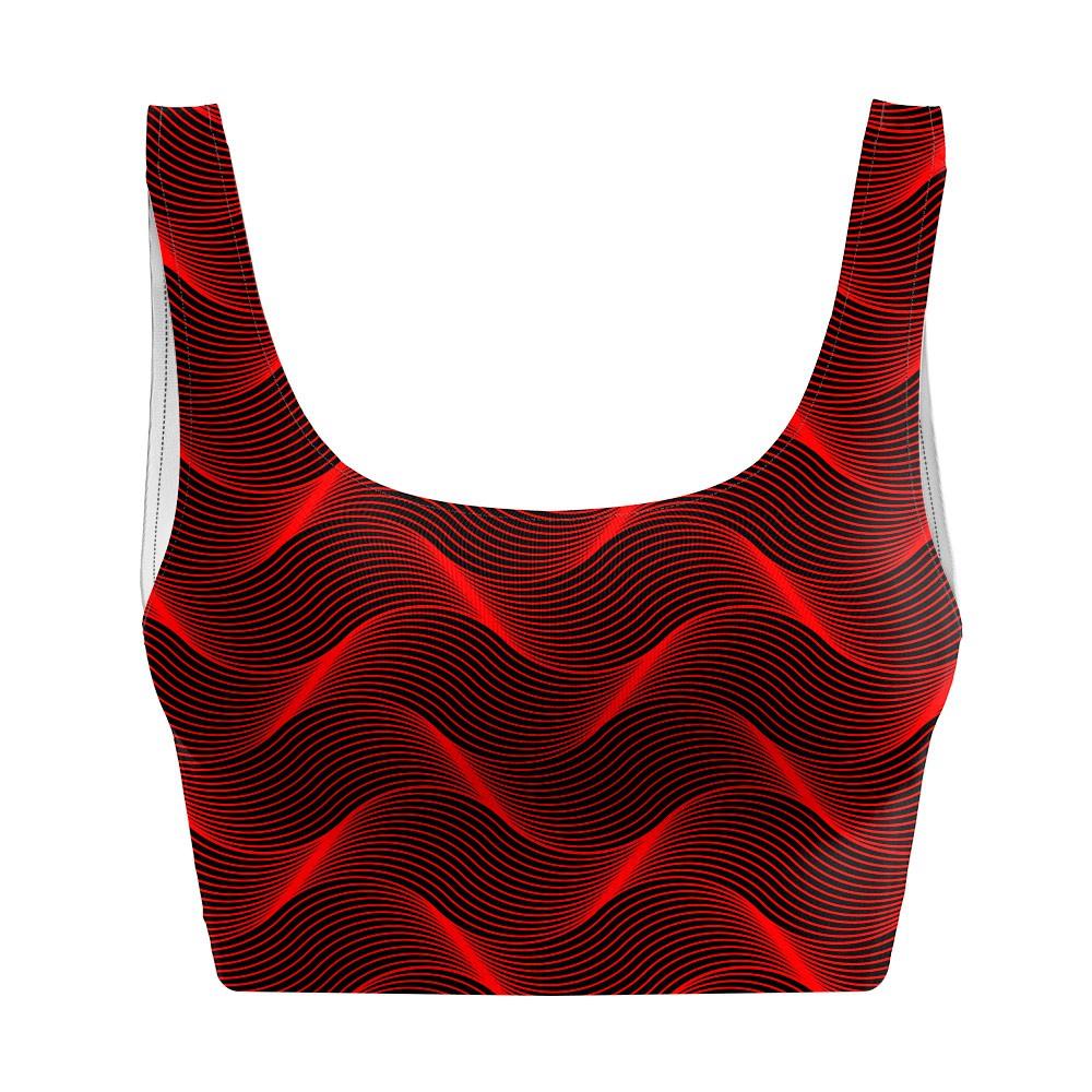 Top Regata Psicodélico Insane Curves Red